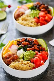quinoa taco bowls with guacamole platings u0026 pairings