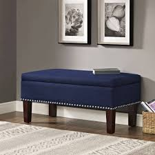 furniture beautiful blue storage ottoman for living room design