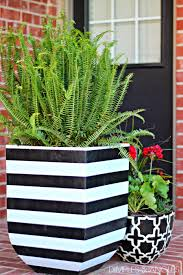 marvelous black and white flower pots design decorating ideas