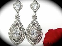 wedding earrings chandelier wedding bridal earrings chandelier earrings tiara