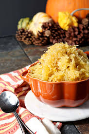 garlicky spaghetti squash as a side dish the speckled