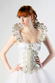 custom halloween costume snow queen crystal corset wedding