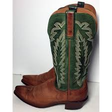womens boots green leather 1883 brown green leather cowboy boots s size 7