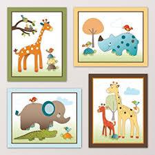 Kids Room Wall Stickers by Amazon Com Giraffe Safari Jungle Animals Nursery Wall Art