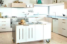 Kitchen Island With Wheels Kitchen Island Wheels Folrana