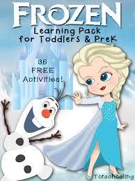 free frozen prek pack disney movies free printable movie