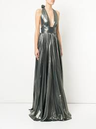 gown design lucia hohan halterneck pleated design gown 1 618 buy ss18