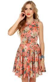 floral dresses pretty floral dress skater dress collared dress 60 00