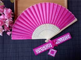 silk fan 2017 white silk fans wedding favors silk fan favors with