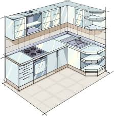 l shaped kitchen plans