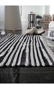 Woven Rugs Cotton Green Recycled Cotton Bath Rug