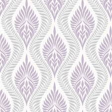 Prepasted Wallpaper Allen Roth Lilac Silver Strippable Non Woven Paper Prepasted