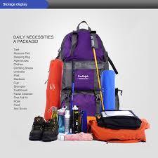 free knight 50l outdoor backpack hiking bag camping travel water