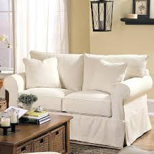 slipcover loveseat with rolled arms loveseat slipcovers t cushion