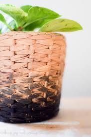 diy ombre planter an easy industrial decor idea