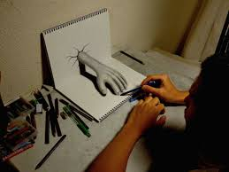 3d drawing hand pencil drawing 3d drawing art by nagai hideyuki
