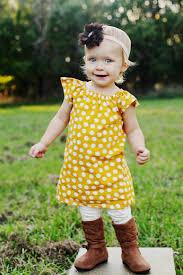 Thanksgiving Dresses For Infants Mustard Yellow White Polka Dot Fall Thanksgiving Baby Toddler