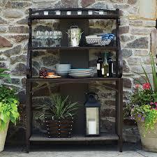 Bronze Bakers Rack How To Buy Wrought Iron Outdoor Bakers Rack U2014 Home Designing