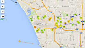 Map Of Los Angeles Zip Codes by This Map Of Lax Plane Noise Is Weirdly Mesmerizing Curbed La