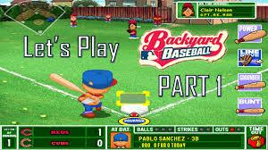 Backyard Baseball Ps2 Let U0027s Play Backyard Baseball Part 1 Youtube