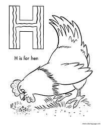 h is for hen alphabet s printable9790 coloring pages printable