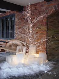 Branches With Lights Painted Tree Branch With Lights For Front Porch Imagine The