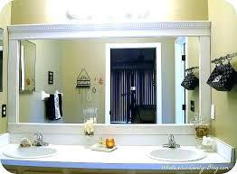 decorating bathroom mirrors ideas lowes white framed bathroom mirror framing kit frames best frame