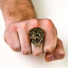 rock star rings images Handsome gold lion ring ss biker rock star rings jpg