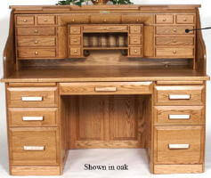 Roll Top Desk Oak Deluxe Cherry Rolltop Desk