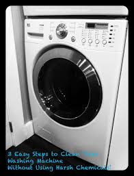 to clean your washing machine without using harsh cleaners