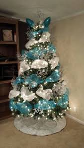 Blue Christmas Decorations Pinterest by Silver And Blue Christmas Tree Christmas Pinterest Blue