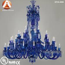 blue crystal chandelier light 48 light baccarat style crystal chandelier with blue crystal buy