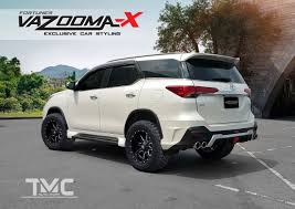 logo toyota fortuner vazooma x body kit for toyota fortuner launched in thailand