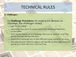 Challenge Procedure Inter School National Scrabble Chionship Ppt