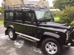 land rover defender black black land rover defender 110 xs county station wagon 2 4 tdci 7