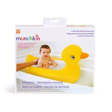 Munchkin Safe Step Gate White Duck Baby Tub Baby Bath Tub Infant Bath Tub