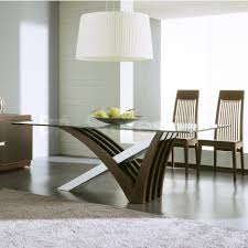 Rectangle Wood Dining Tables Unique Shape Brown Polished Wooden Dining Table Based Using Round