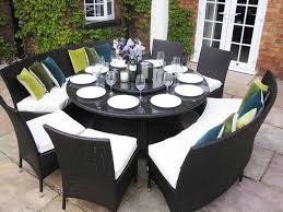 outdoor round dining table for 8 outdoorlivingdecor