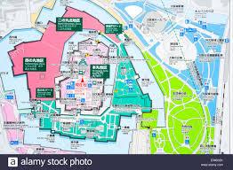 castle green floor plan japan osaka castle large information map in castle grounds stock