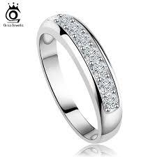 wedding band reviews orsa jewels luxury austrian zircon wedding band for women eternity