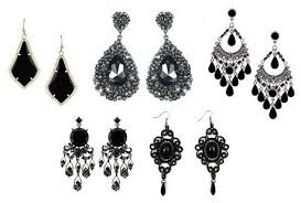 different types of earrings 9 different types of black earrings for men and women