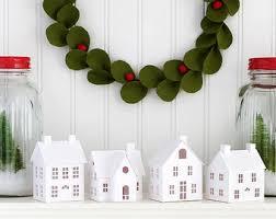 putz house ornament diy kit putz