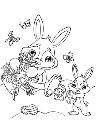 cute easter bunnies coloring free printable coloring pages