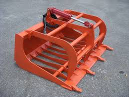 kubota compact tractor loader attachment 48 rock bucket grapple