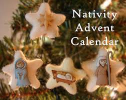 nativity advent calendar pattern advent calendar star of