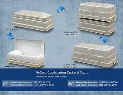 casket dimensions casket vault combo