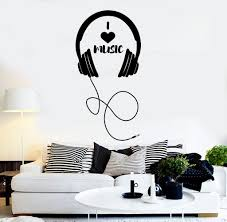 vinyl wall decal headphones musical decor teen room stickers mural vinyl wall decal headphones musical decor teen room stickers mural ig4274