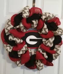 georgia bulldogs football burlap door wreath 22