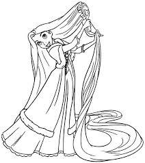 disney princess coloring pages rapunzel kids 2015 disney