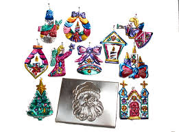 mexican tin ornaments handmade in oaxaca mexico